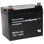 Pb akumulator MULTIPOWER 12V/34,0Ah
