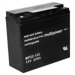 Pb akumulator MULTIPOWER 12V/22,0Ah
