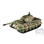 RC tank 1:16 German King Tiger (vez Porsche) kour. a zvuk. efekty