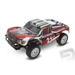 HIMOTO Short Course 1/10 scale RTR 4WD 2,4GHz - cervene